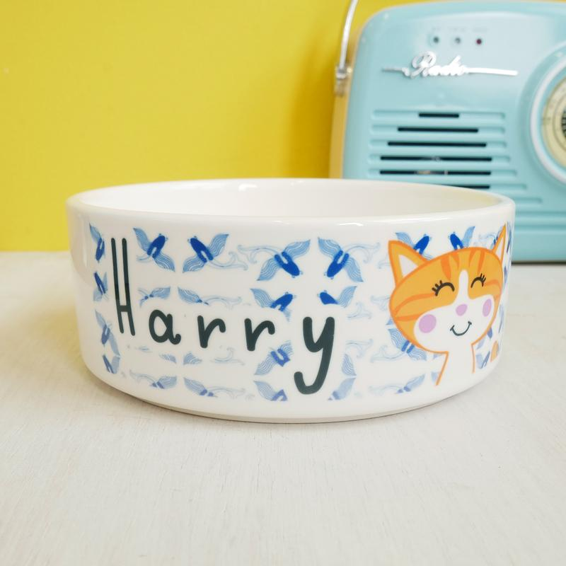 Personalised Cat Bowl - Koi